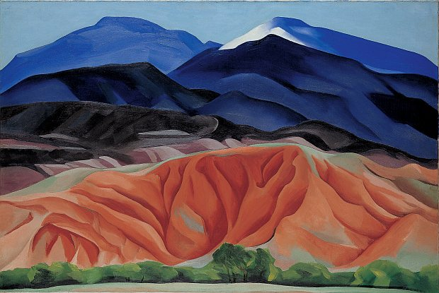 landschaft bei black mesa, new mexico, 1930. georgia okeeffe museum